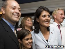 Nikki Haley awaiting Tuesday's results with her family