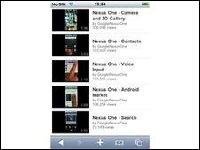 youtube mobile  website