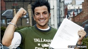 Peter Andre signs a record deal in 2004