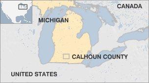 Carte du Michigan