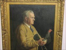 Painting of Bill Tunstall