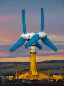 A large tidal flow turbine