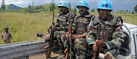 UN peacekeepers in DR Congo, December 2008