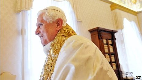 Pope Benedict at the Vatican, 30 April 2009