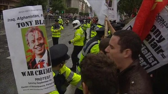 Anti-war protest in Dublin