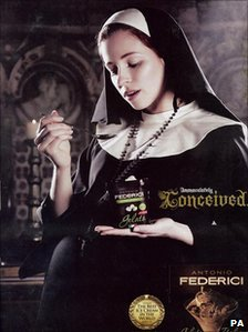 The advert for Antonio Federici ice cream
