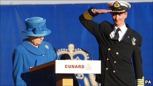 The Queen and Captain Christopher Wells