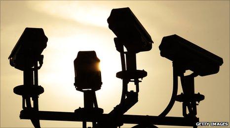 CCTV cameras near the O2 Arena, London