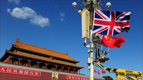 Union flag hoisted in Beijing