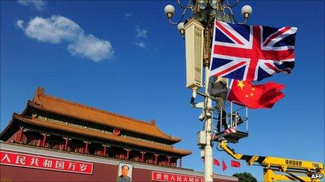 Union flag hoisted in Beijing