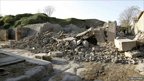 """The """"House of the Gladiators"""" lies in ruins, 6 November"""
