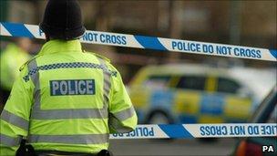 Police tape. BBC