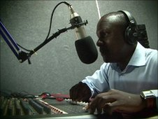 Fred Mweetwa on the radio
