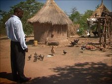 Fred Mweetwa on his farm