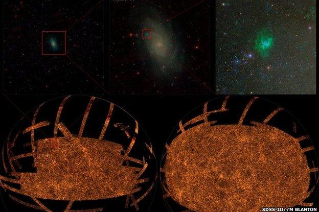 SDSS composite image showing magnifications (SDSS/M Blanton)