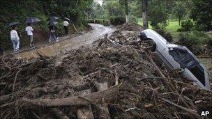 Scene of disaster in Teresopolis, 13 Jan