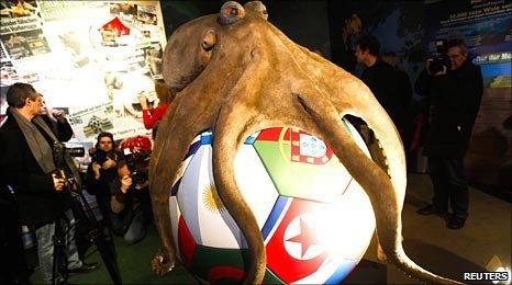 Paul the Octopus memorial - http://news.bbc.co.uk