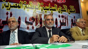 Muslim Brotherhood general guide Mohammed Badie during the November 2010 election campaign