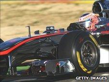 Jenson Button's McLaren testing in Valencia