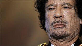 A picture taken on June 10, 2009 shows Libyan leader Col Muammar Gaddafi during a press conference in Rome