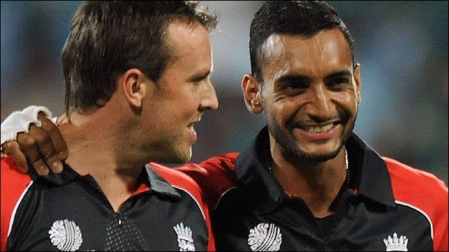 Graeme Swann and Ajmal Shahzad