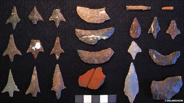 California Channel Island finds (J Erlandson)