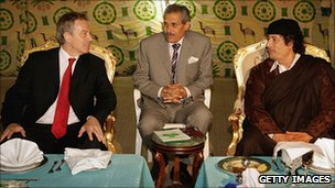 Gaddafi wtih Tony Blair