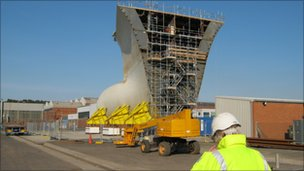 Part of the bow at Rosyth