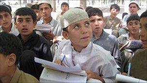 Open air school in eastern Afghanistan