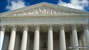 The exterior of the US Supreme Court