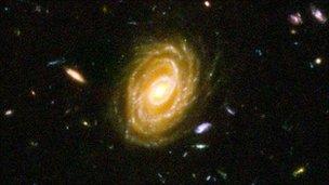 Hubble deep field galaxies
