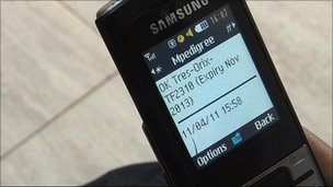 Mobile phone using mPedigree