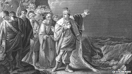 Engraving of picture of King Canute