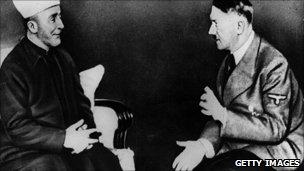 Grand Mufti Haj Amin el Husseini talking to Adolf Hitler in 1930