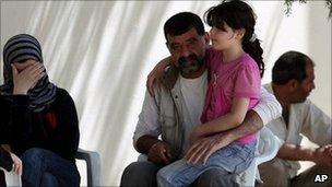 Syrian displaced in Red Crescent camp in Altinozu, Turkey