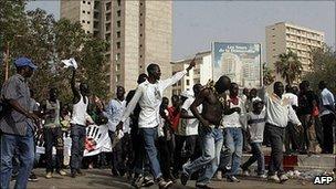 Protest in Dakar. 23 June 2011