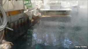 Fuel pond at Fukushima