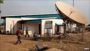 Building housing South Sudan's state TV station