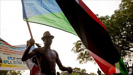 Celebrations in Juba. 8 July 2011