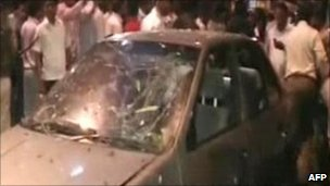 The explosions were in busy areas of Mumbai