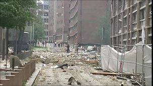 Aftermath of the scene in Oslo