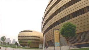 Opera house and museum in new Central Business District, Zhengzhou, Henan province