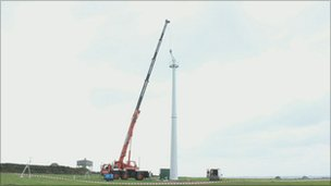 Turbine being built at Gorran