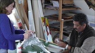 Artists Lynn Bennett-Mackenzie and Somu Desai