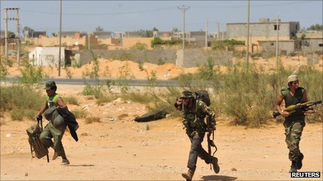 Anti-Gaddafi forces near Sirte, 9 Sept