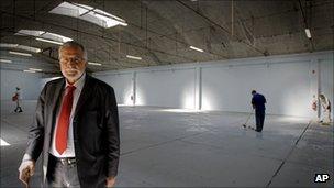 Mohamed Salah Hamza inside the former barracks to be used a Paris prayer hall, 15 September