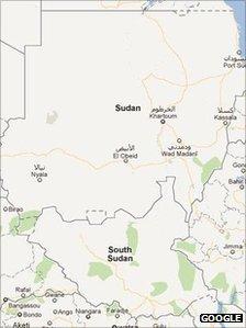 South Sudan Google Map