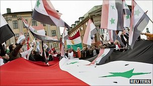 Syrian opposition rally in Stockholm, Sweden (9 Oct 2011)