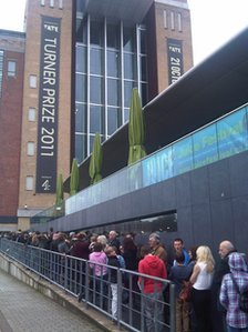 Queues outside the Baltic