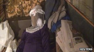 A life-size doll found in Anatoly Moskvin's flat in Nizhny Novgorod, Russia